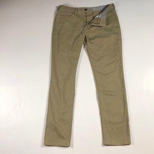 Docker men's slim fit khaki/chino size 33W 32L